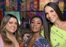 Preta Gil, Erika Januza e Ivete Sangalo gravam juntas em Salvador