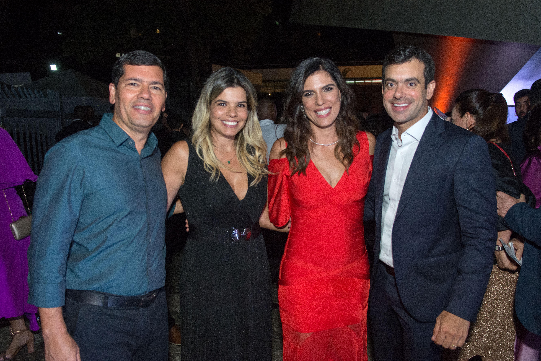 Claudio e Alana Tinoco com Ana Coelho e Tiago Correia