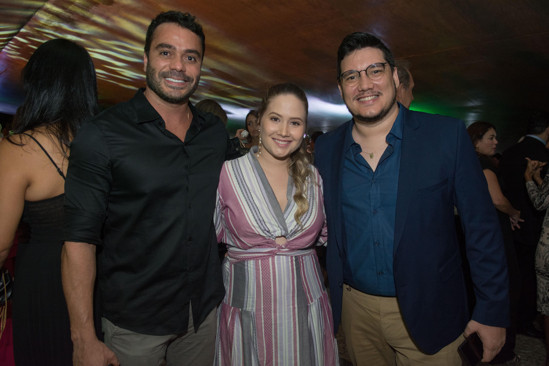 Aldinho Benevides, Jéssica Leite e Edgard Abbehusen