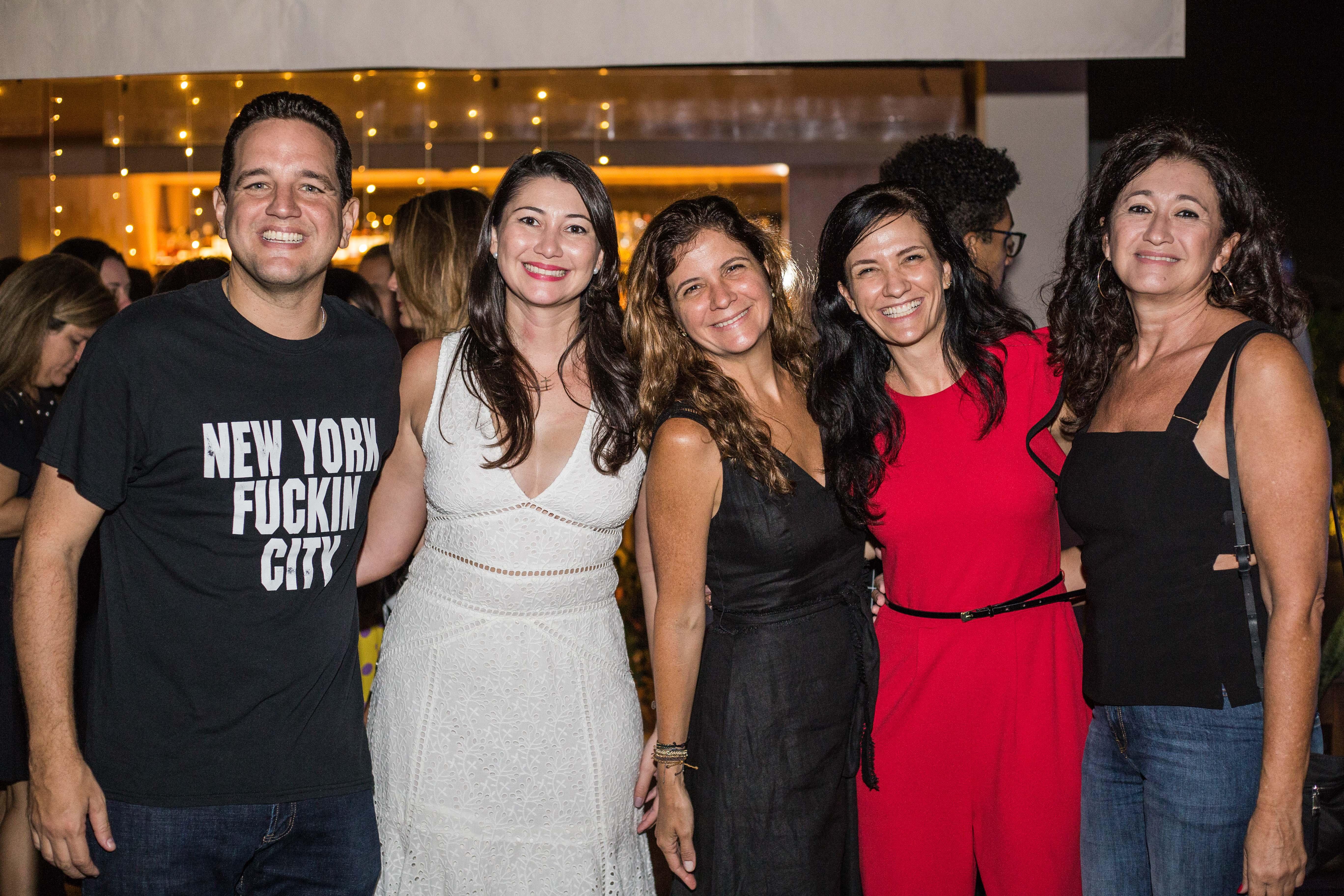 Kiko Silva, Cissa Zanchet, Claudia e Cris Visnevski e Eliane Zanchet.