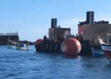 Banda Eva fez show surpresa no Porto da Barra