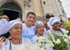 ACM Neto diz que sentimento é de gratidão em última Lavagem do Bonfim como prefeito