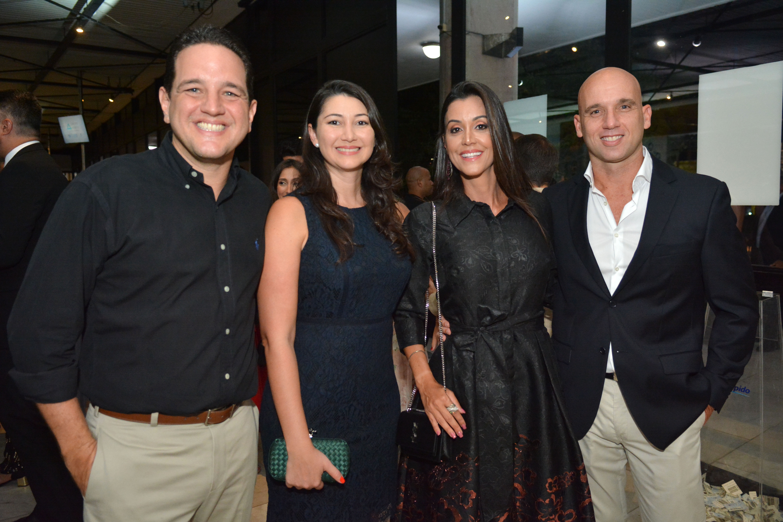 Kiko Silva, Cecilia Zanchet, Bianca e Manoel Alonso