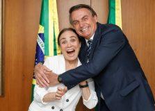 Regina Duarte reencontra Bolsonaro em Brasília para falar sobre Secretaria da Cultura