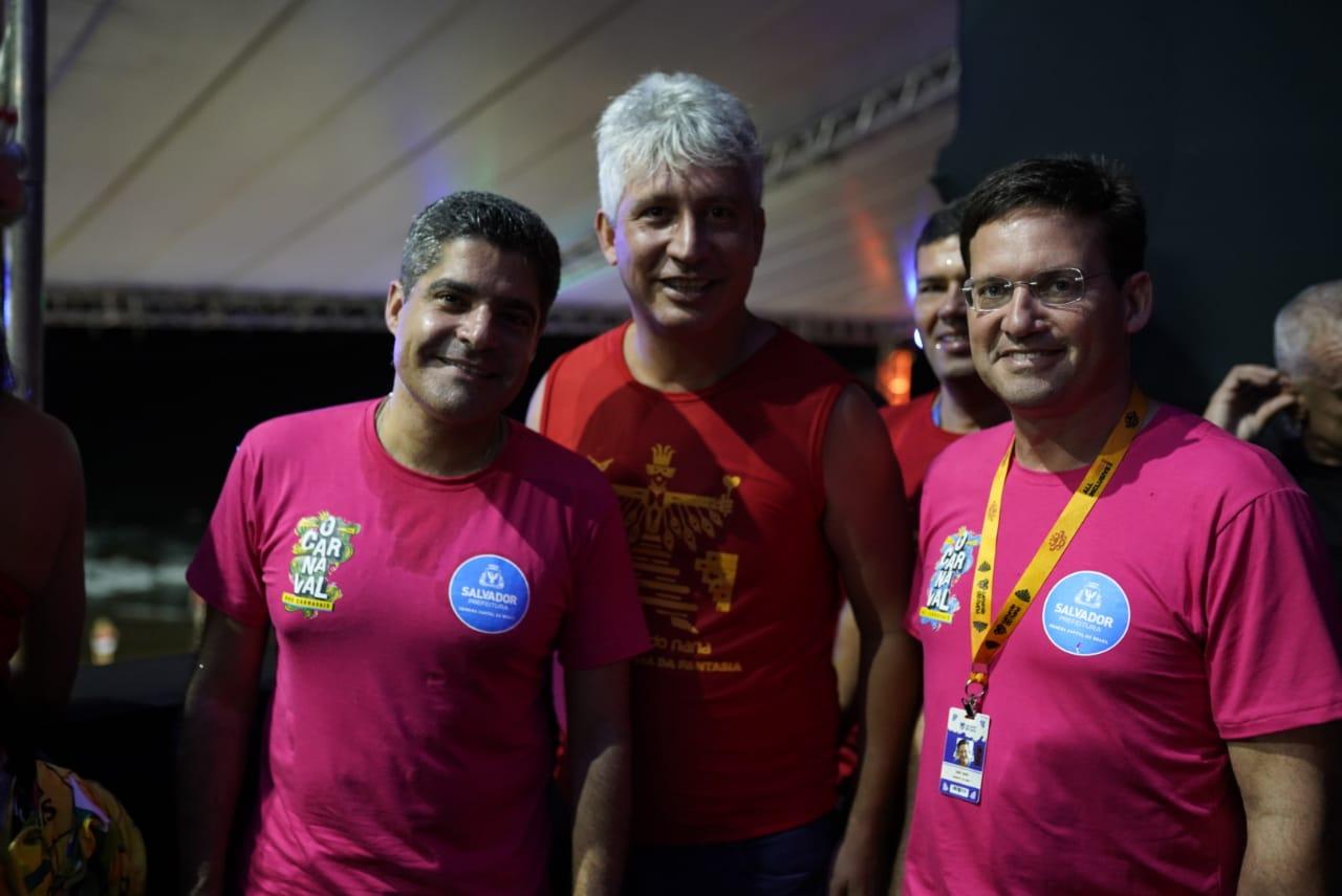 ACM Neto, Henrique Carballal e João Roma