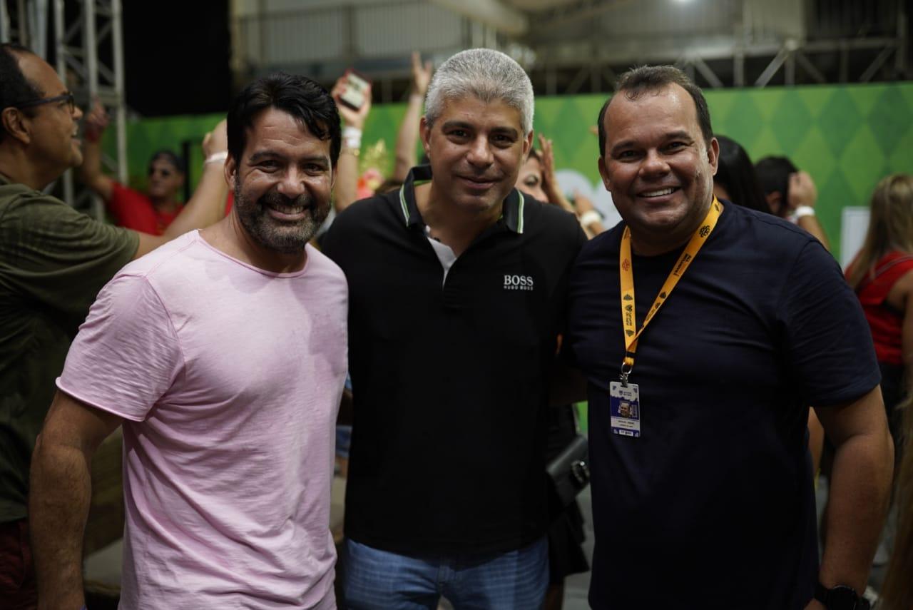 Paulo Magalhães, Maurício Barbosa e Geraldo Júnior