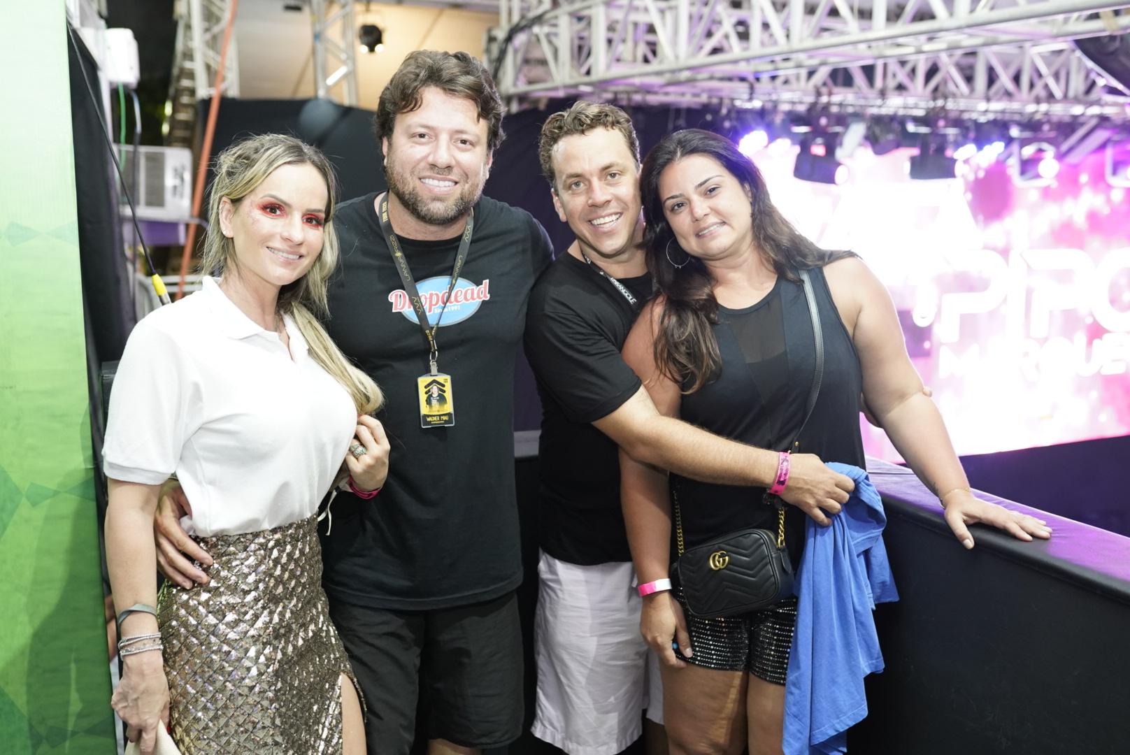 Bruna Martins, Vagner Miau, Marcelo Brito e Uliana Brito