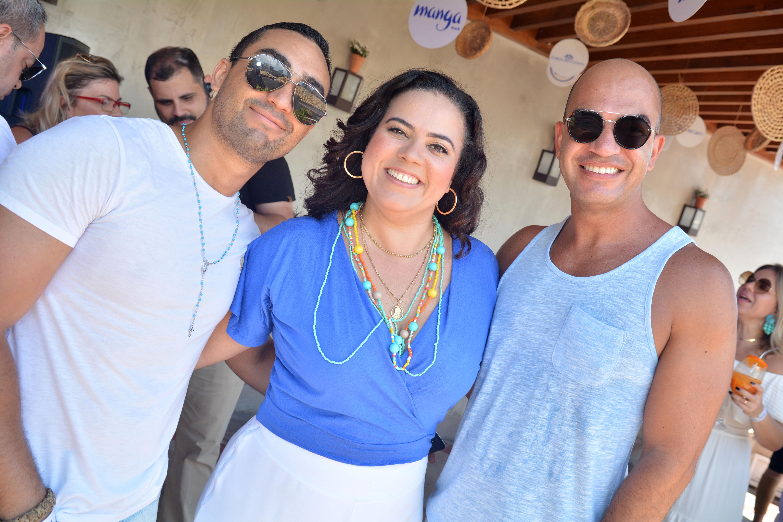 Bruno, Lavínia e Wallace Ornellas