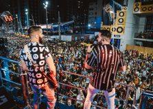Rafa e Pipo Marques abrem Carnaval com folião pipoca