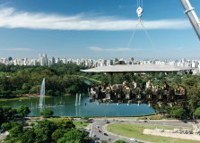 Dinner in the Sky 2020 terá vista para o Parque do Ibirapuera