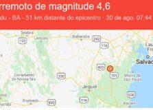 Entenda os números de magnitude dos tremores de terra na Bahia