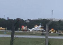 Acidente com bimotor fecha pista do Aeroporto de Salvador