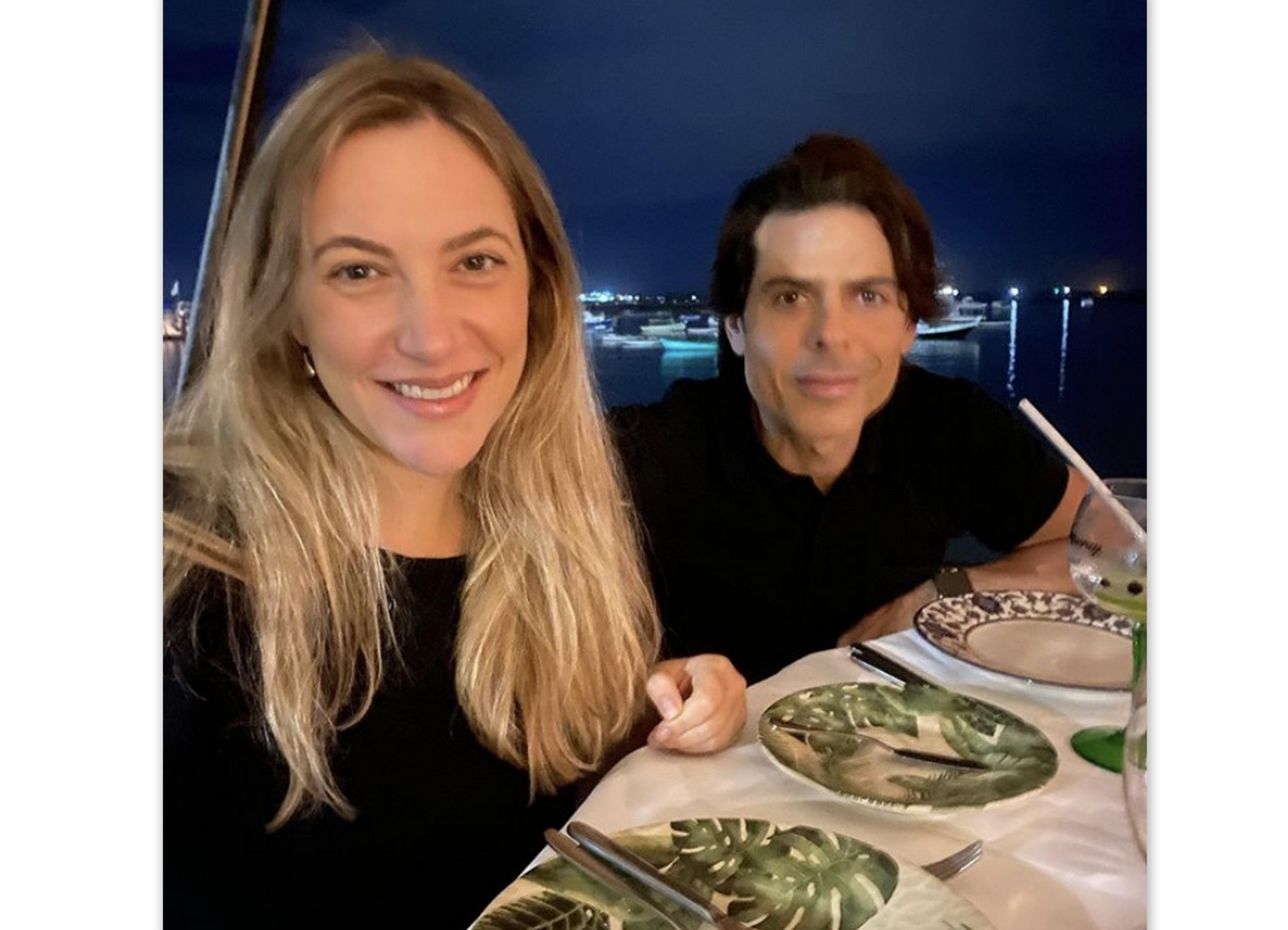 Cissa Castro Lima e Alexandre Lima, no Restaurante Amado.