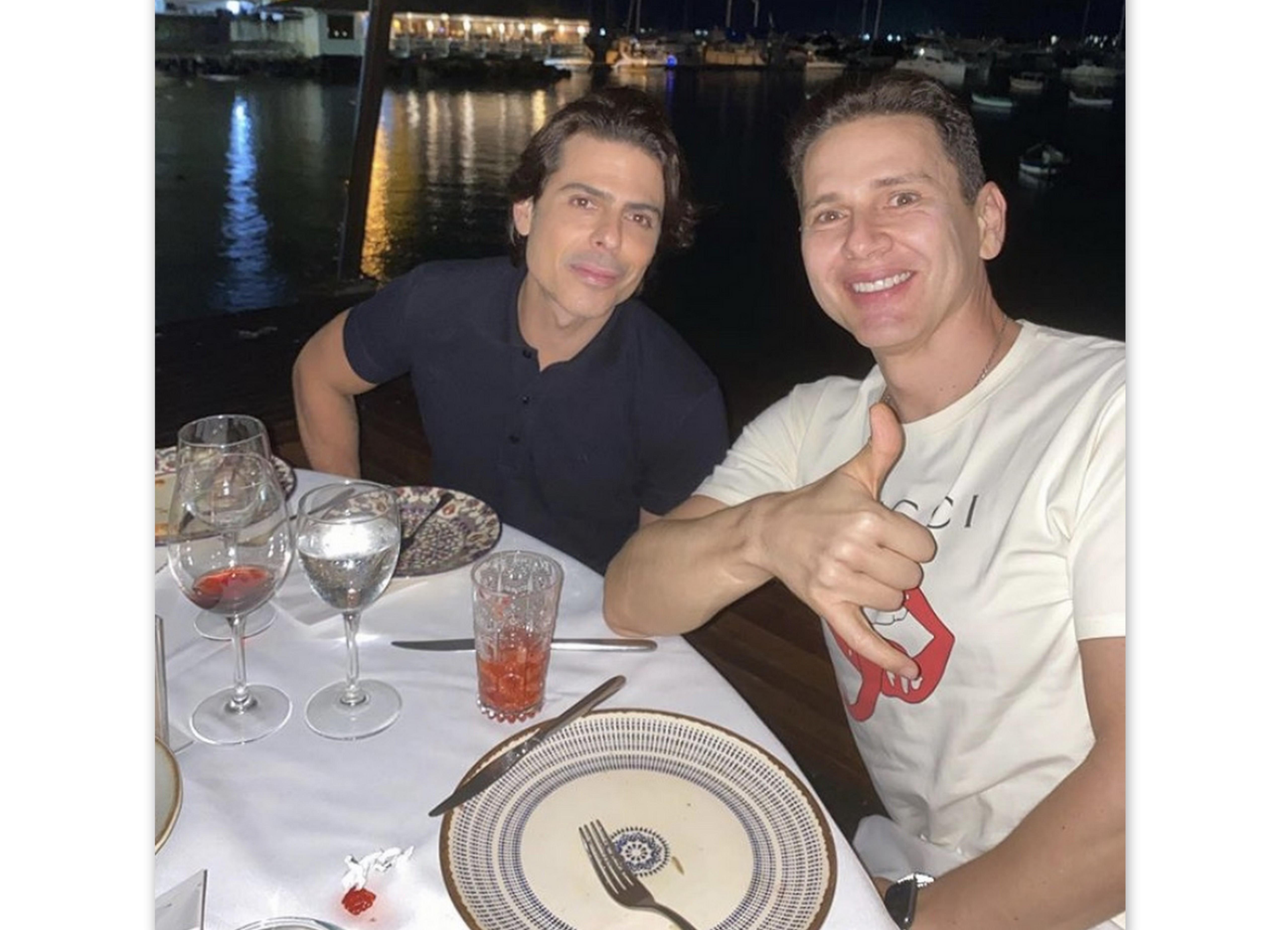 Alexandre Lima e Antonio Mazzafera, no Restaurante Amado.