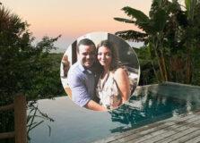 Rita Barros e Paulo Henrique Souza: temporada em Trancoso