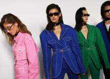 Balmain aposta no estilo dos anos 90 em uma coleção de jeans color