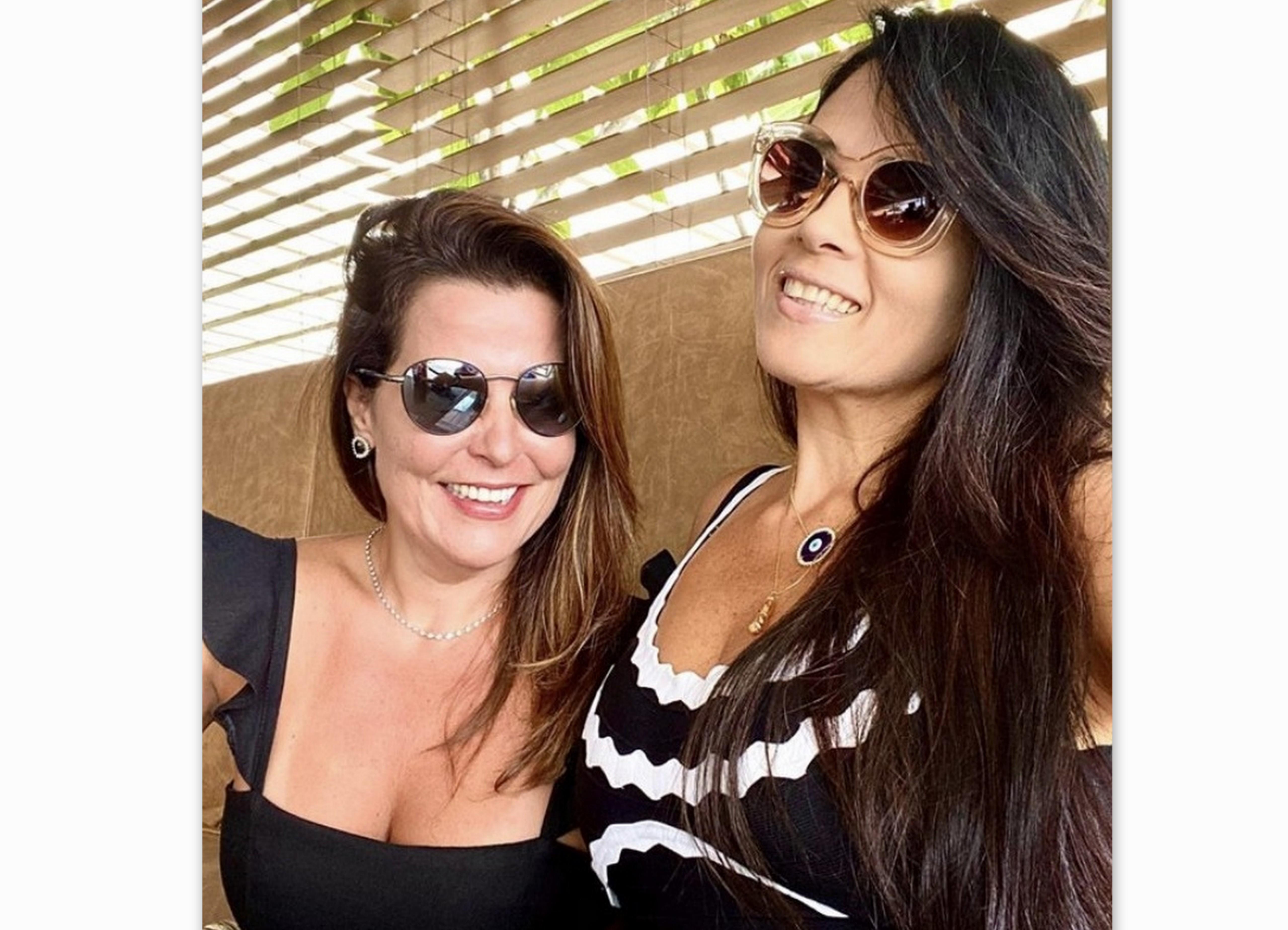 Elisângela Góes e Juliana Dourado, no Restaurante Soho.
