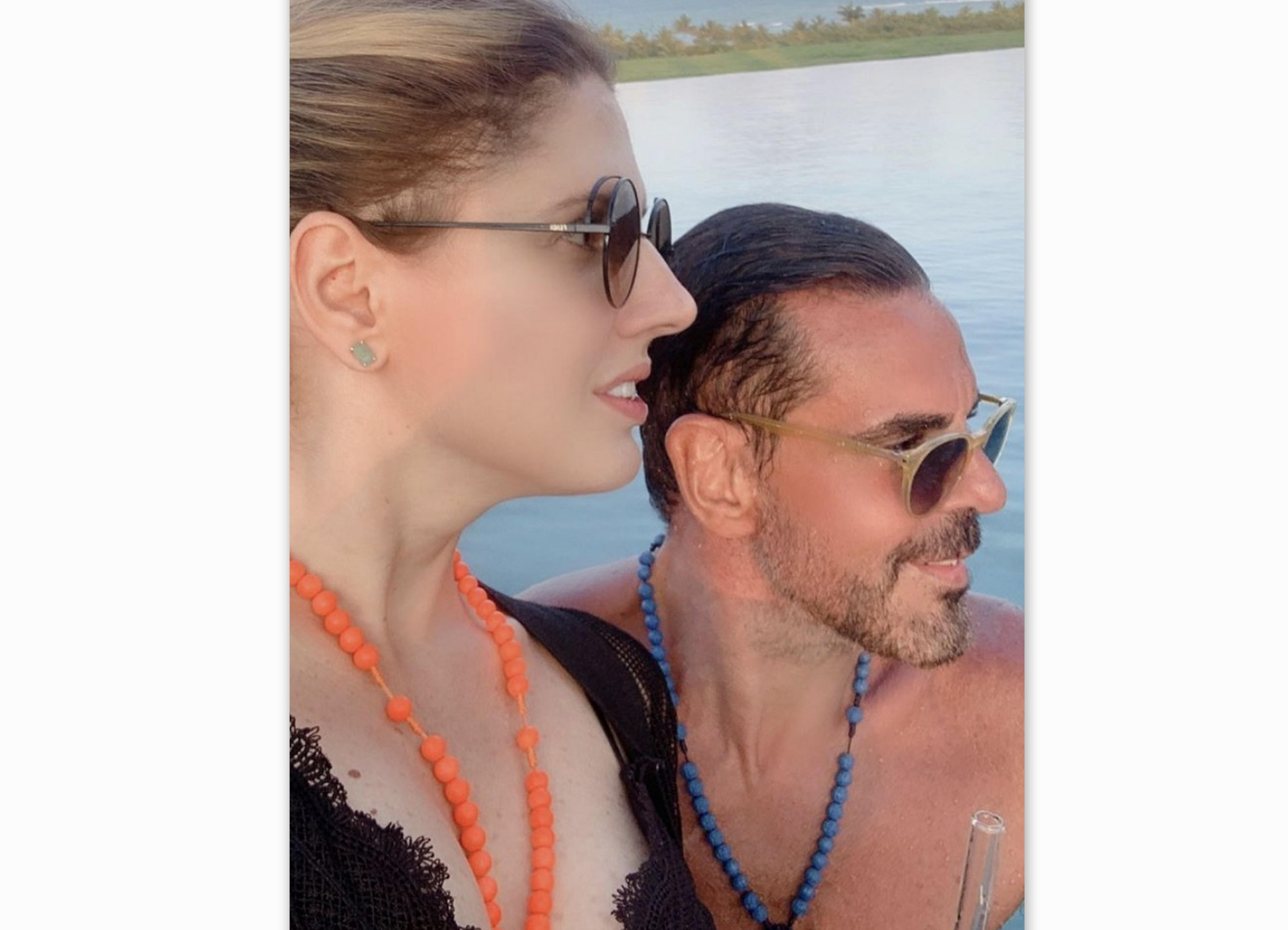 Priscila Real e Marco Lomanto, em Trancoso.
