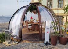 Bolhas do Villa Stella oferecem experiência gastronômica reinventada