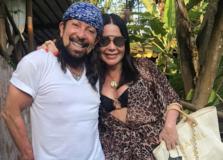 Aninha e Bell Marques: almoço em Preta, na Ilha dos Frades