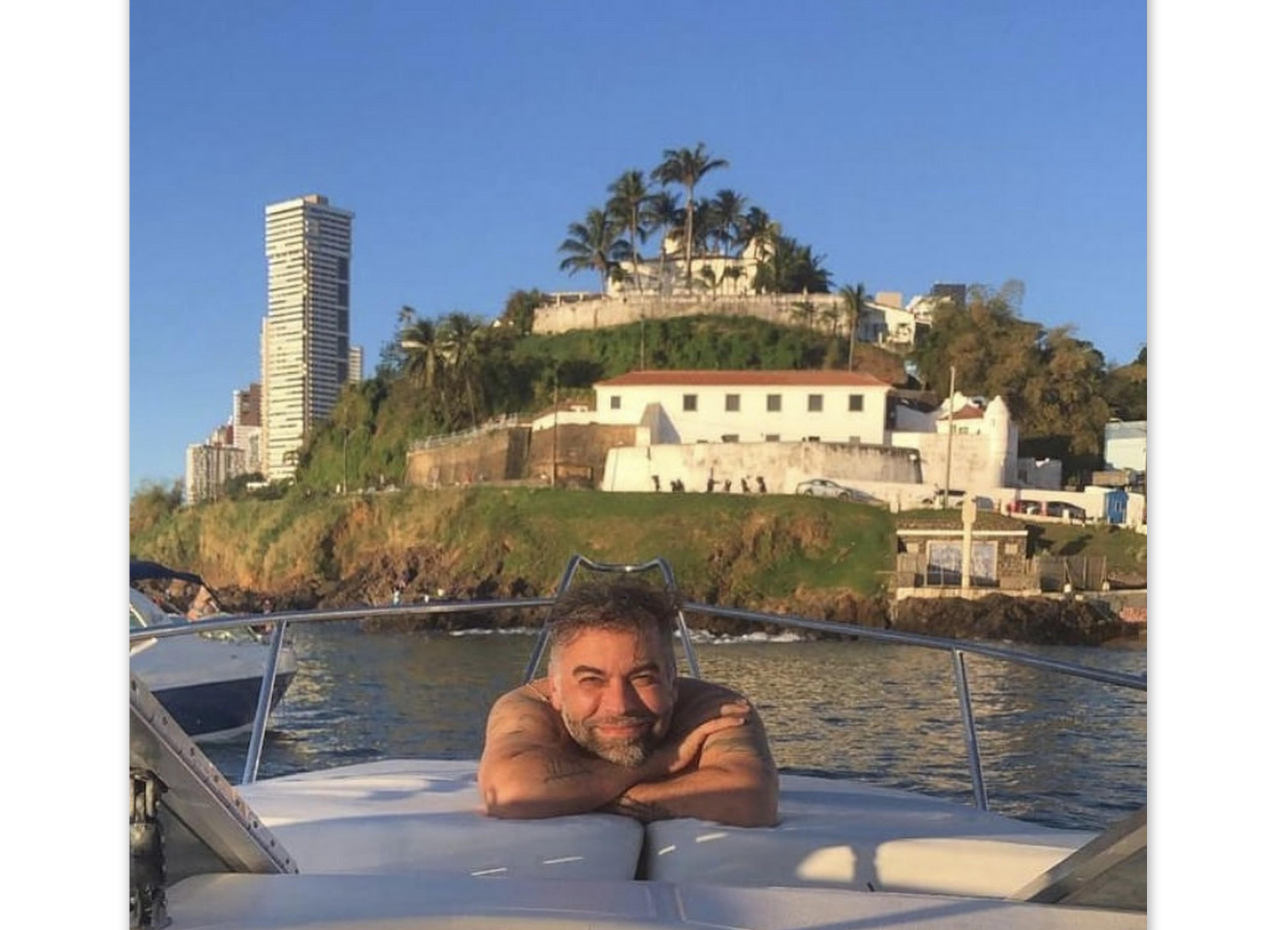 Pedro Tourinho na Baía de Todos os Santos