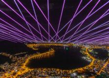 Alok ilumina o céu de Salvador com laser nesta quarta-feira (11)