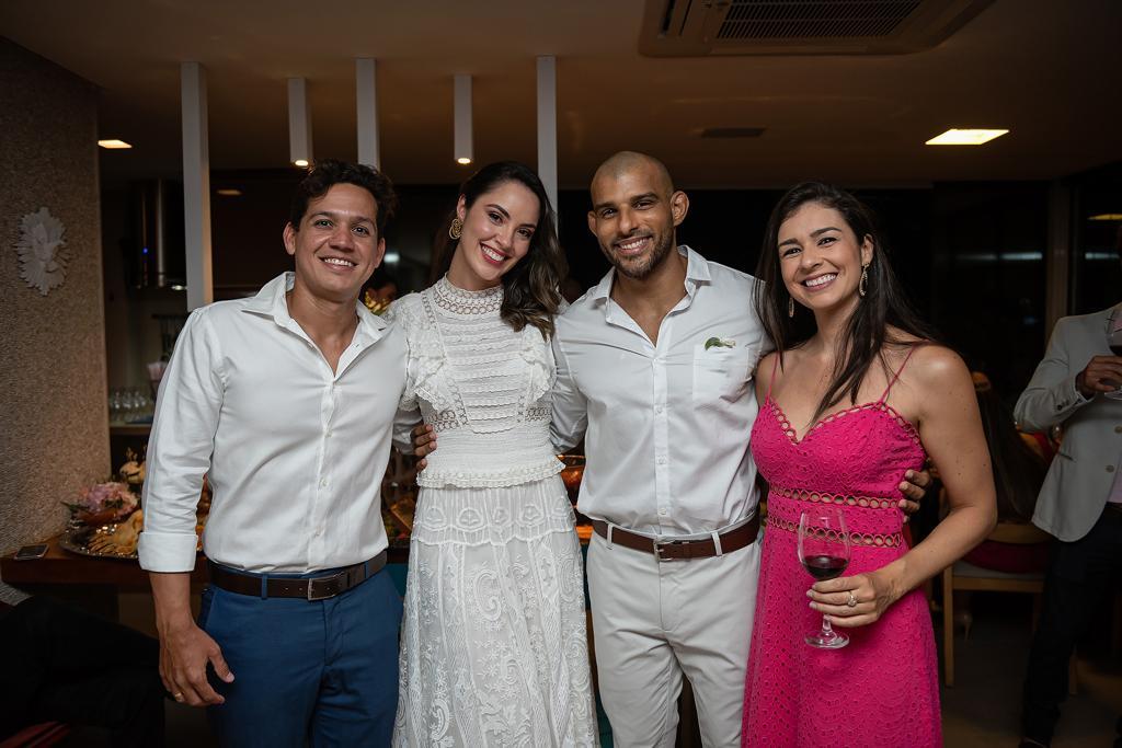 Ana Carolina Porto e Flávio Simas com Josedilson Daltro Jr e Analu Caroso