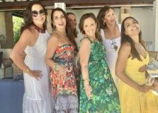Silvia Gama Lobo reuniu amigas para Caruru em Interlagos