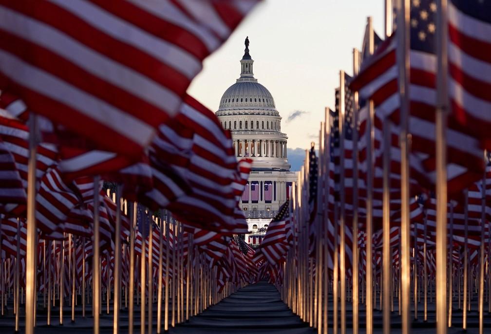 Capitólio dos EUA antes da cerimônia de posse