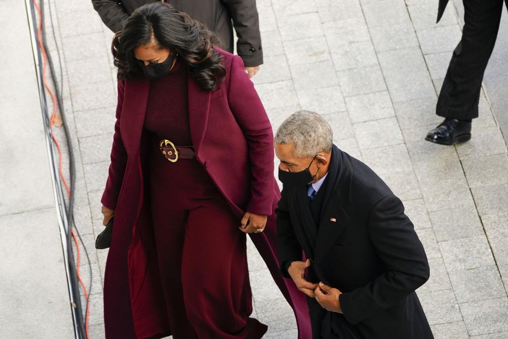 Barack Obama e sua esposa Michelle
