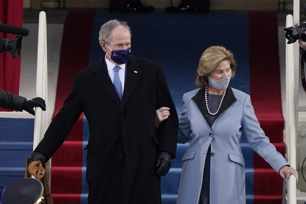 George W. Bush e sua esposa Laura