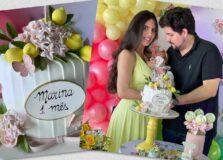 Marianna Domizio e Victor Ventin celebraram o 1º mês de vida da pequena Marina