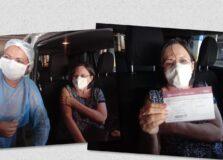 Maria da Penha, referência em Direito da Mulher, recebe vacina contra a Covid-19